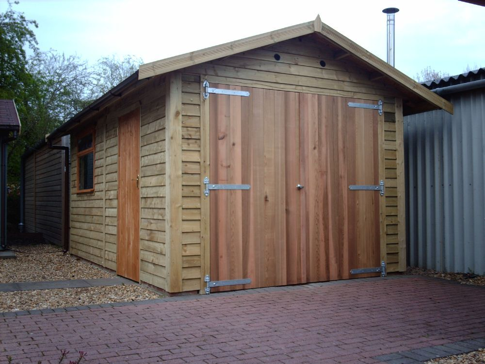 cedar double doors warwick timber garages. Black Bedroom Furniture Sets. Home Design Ideas