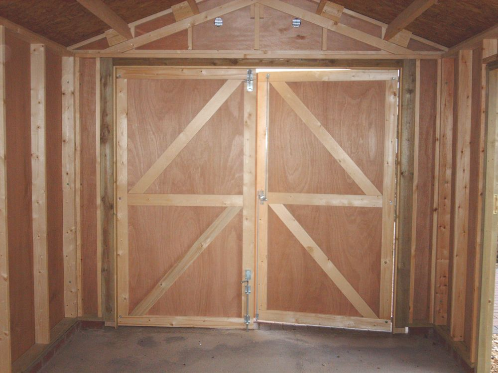 Framed double doors warwick timber garages for Garage side door and frame