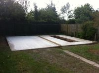 Customer has concreted and fitted their own inspection pit. Just needs a brick course.