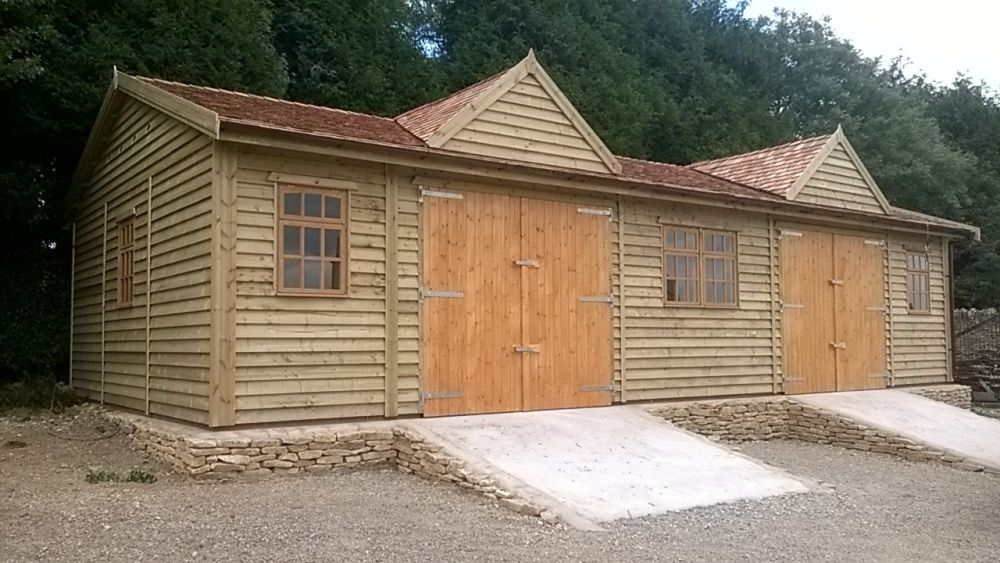 Warwick garages timber garages gallery for Gable roof garage