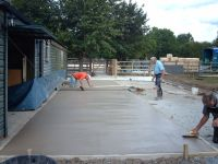 Concrete being laid.