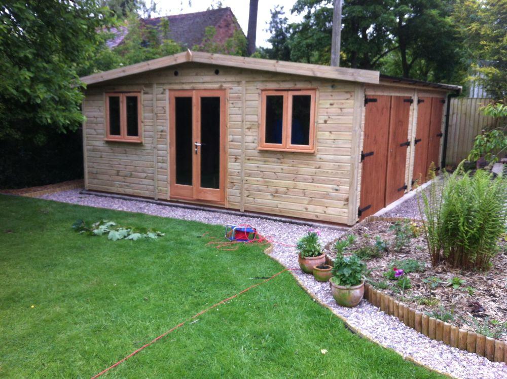 Warwick garages garage building garden office stables for Low cost garage