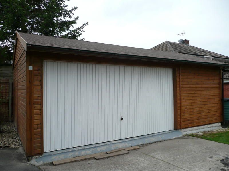 awesome double garages #3: Large Double Garage with a double width Up and Over Door