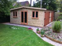 Low height 20 x 20 garage - 2.5m high. Note that this garage has a central partition and the doors are 6ft high.