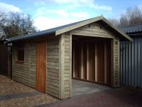 Example of Feather Edge Cladding on garage