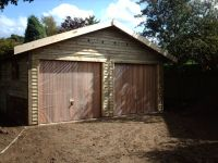 Feather Edge Garage (with Cedar Up & Over Doors)