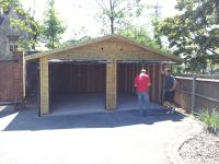 Double garage with 2 x Up & Over Canopy doors in the front gable end.