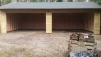 40 x 20 Garage with 2 - openings for roller doors (fitted by the customer)