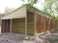 Large Garage building for Agricultural machinery at Oxford University
