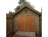 10 x 20 Garage in Feather Edge - with a 30 degree pitched roof