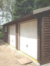 Feather Edge Garage (Customer stained dark brown)