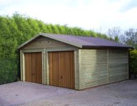 20 x 20 Garage with timber U&O doors in the Gable End