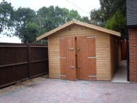 10 x 18 Single Garage with standard double doors