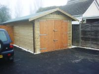 10 x 24 Garage with standard double doors
