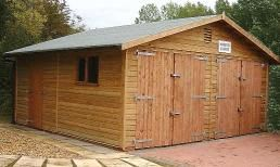 18 x 18 Double Garage with doors in the gable end