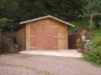 12 x 20 Garage with standard double doors