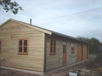 40 x 20 Garage with Garden Office doors & windows