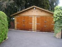 20 x 20 Garage with standard double doors
