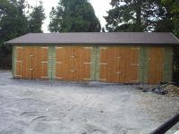 36 x 20 Garage with Felt Tile Roof and standard Doors.