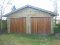 20 x 20 Feather Edge Garage with Cedar Up & Over Doors