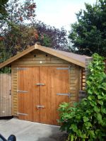 10 x 18 Feather Edge Garage with Felt Tile Roof