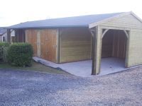 48 wide x 18 deep Garage with 2 Sets of Double Doors