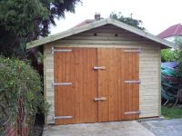 12 x 20 Garage with Offset Standard Double Doors