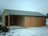 20 x 30 Garage with a Cart Lodge Opening at one end.