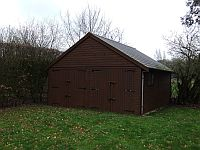 7.27m x 6.1m Garage Two sets of Double Doors in Gable End 4m to ridge