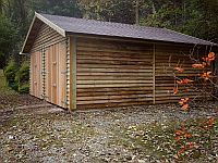 6.1m x 6.1m Double Garage Cedar Double Doors